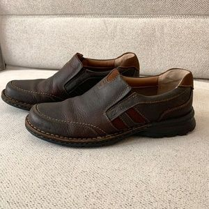 Clarks brown shoes for men